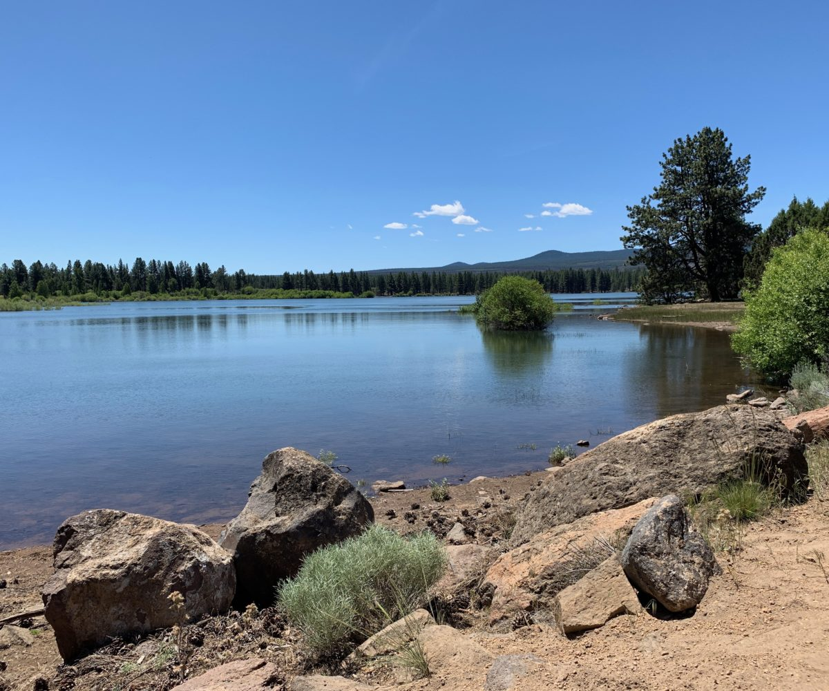 Tumalo Reservoir on a beautiful June day in Bend, Oregon